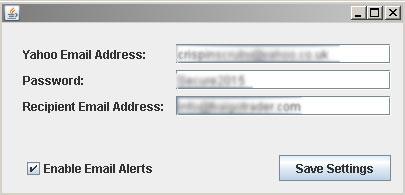 Currency Meter Email Alert Setup